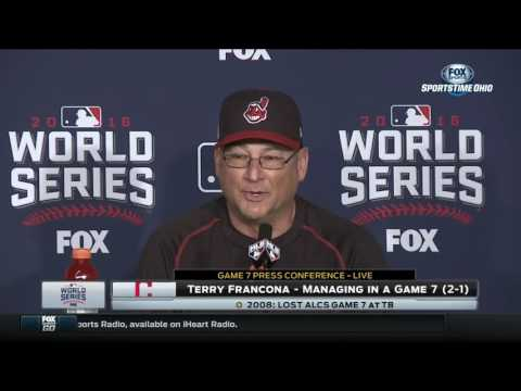 Cleveland Indians skipper Terry Francona describes his wacky nightmare after Game 6 of World Series