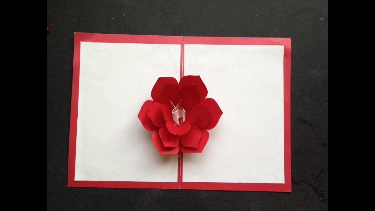 Easy to make a 3d flower pop up paper card tutorial free pattern easy to make a 3d flower pop up paper card tutorial free pattern youtube kristyandbryce Images