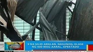 BP: 9 na silid-aralan sa Bogo, Cebu, nasunog
