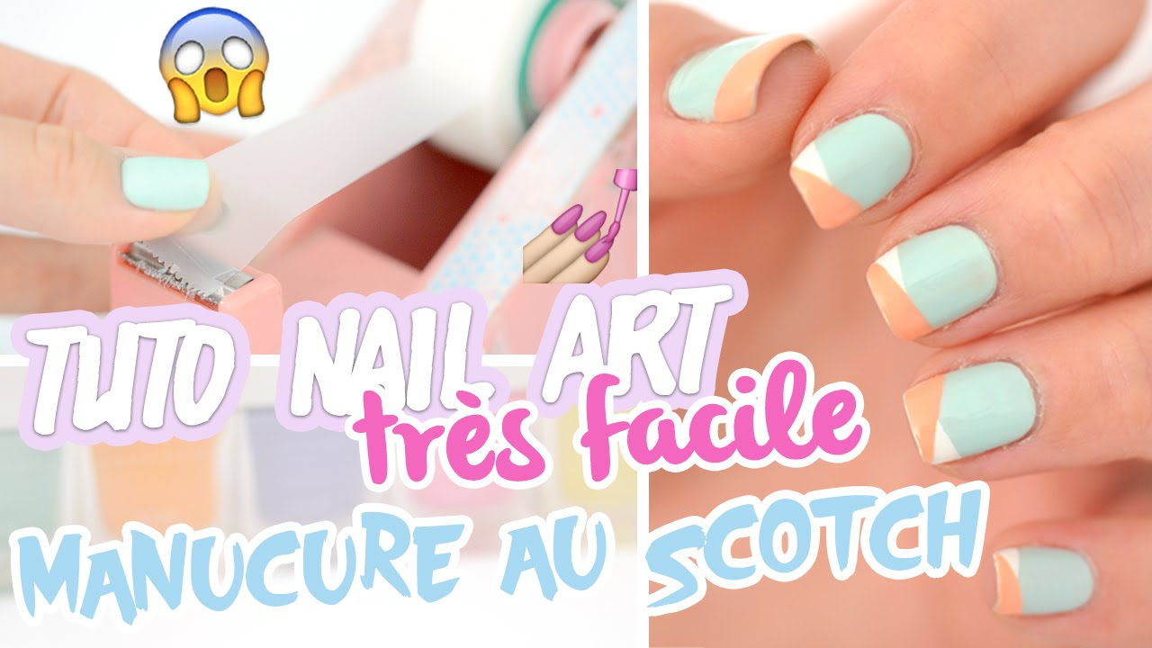 Favorit Nail art très facile ♡ Manucure au scotch - YouTube WS54
