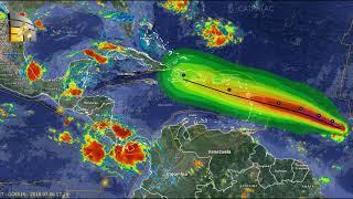 Huracan Beryl  el primer huracán de la temporada del Atlántico