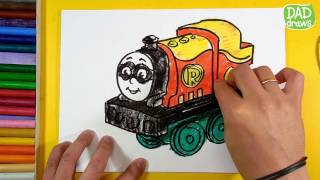 How to draw Percy as Robin / minis thomas and friends dc super friends