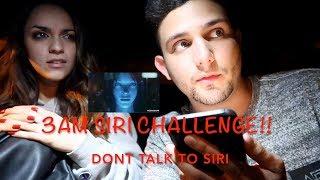 3AM SIRI CHALLENGE!! DONT TALK TO SIRI AT 3AM (SHE SHOWED HERSELF!)