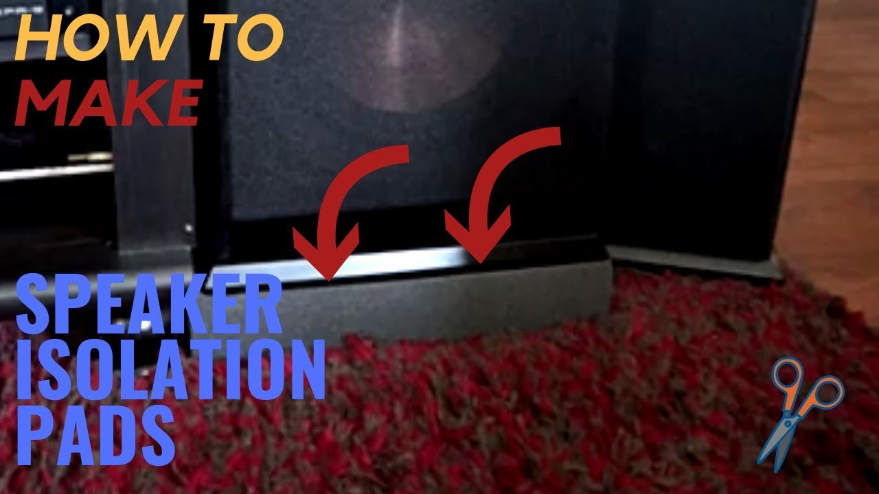 How to Make your Own Simple Subwoofer Isolation Pads