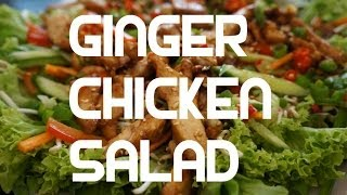 Asian Chicken Salad - Sesame Honey Lemon Grass Chili Chinese Bang Bang Recipe