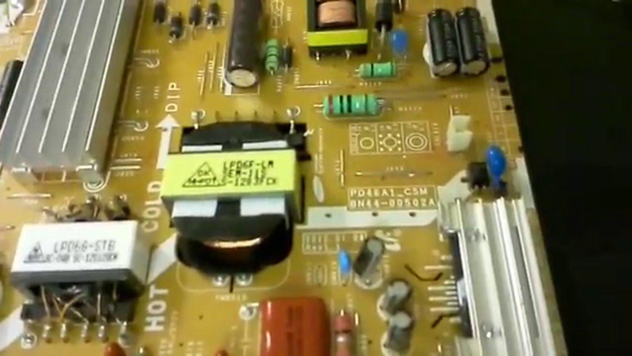Samsung UN40ES6003F smart TV diagnose and repair (BN44-00502A)