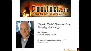 A Simple Emini Futures Day Trading Strategy