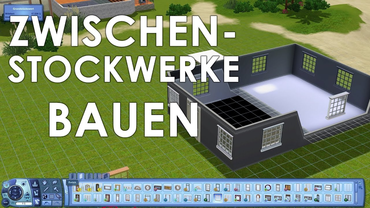 die sims 3 bau guide zwischenstockwerke youtube. Black Bedroom Furniture Sets. Home Design Ideas