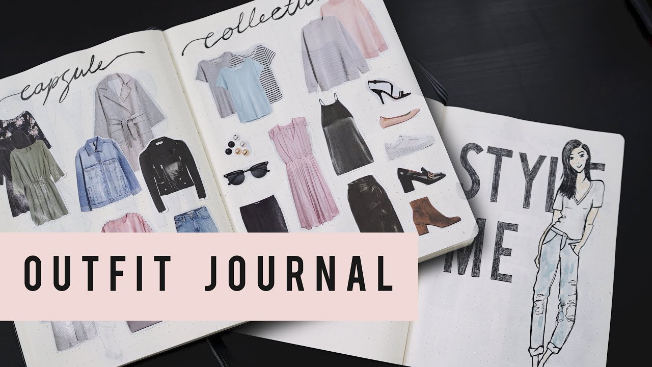 BULLET JOURNAL IDEAS - OUTFIT PLANNING | ANN LE - YouTube