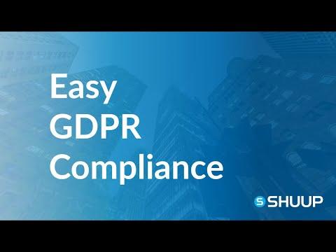 GDPR compliance on Shuup