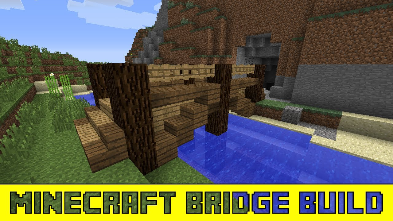 minecraft designs how to build a small wooden bridge youtube