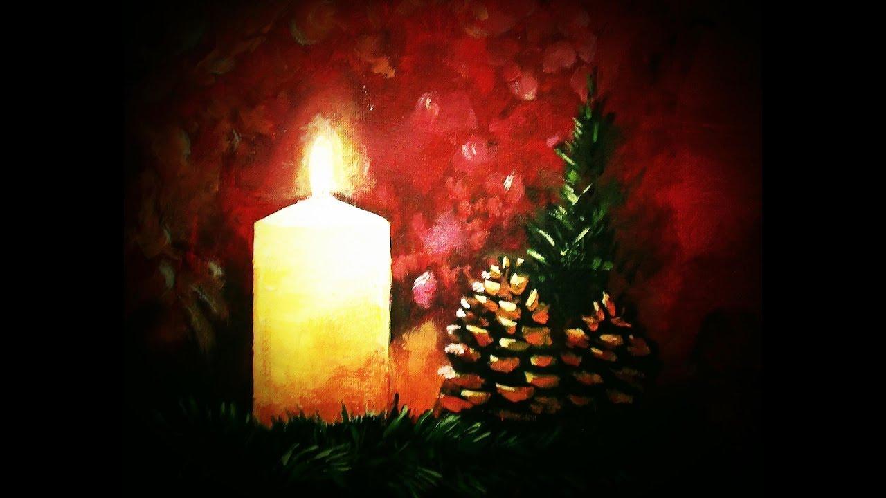 malen mit acryl kleines weihnachtsmotiv teil 2 2 youtube. Black Bedroom Furniture Sets. Home Design Ideas