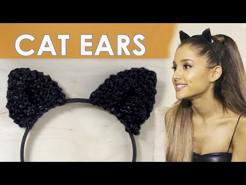 How to knit cat ears for halloween easy for beginning knitters