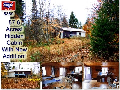 SOLD | Land For Sale In Maine | Woods Cabin, Over 57 Acres | MOOERS #8389