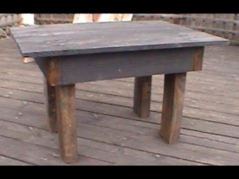 Comment faire une petite table de jardin youtube for Comment realiser une table de jardin en mosaique