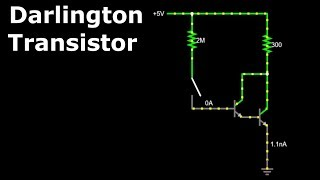 Darlington Transistor- Darlington Pair- Darlington Transistor Circuit, Simulation, Working & Uses