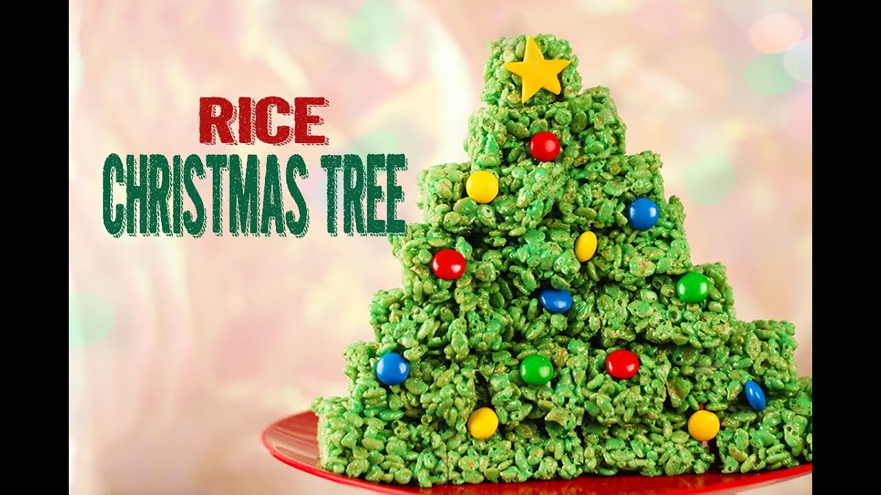christmas treats rice krispies tree easy youtube