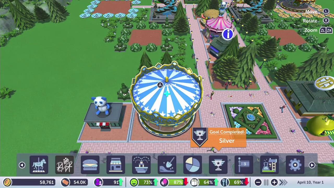 Rollercoaster Tycoon Adventures Nintendo Switch - Tutorial Gameplay