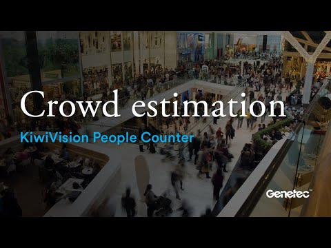 Crowd estimation of KiwiVision People Counter