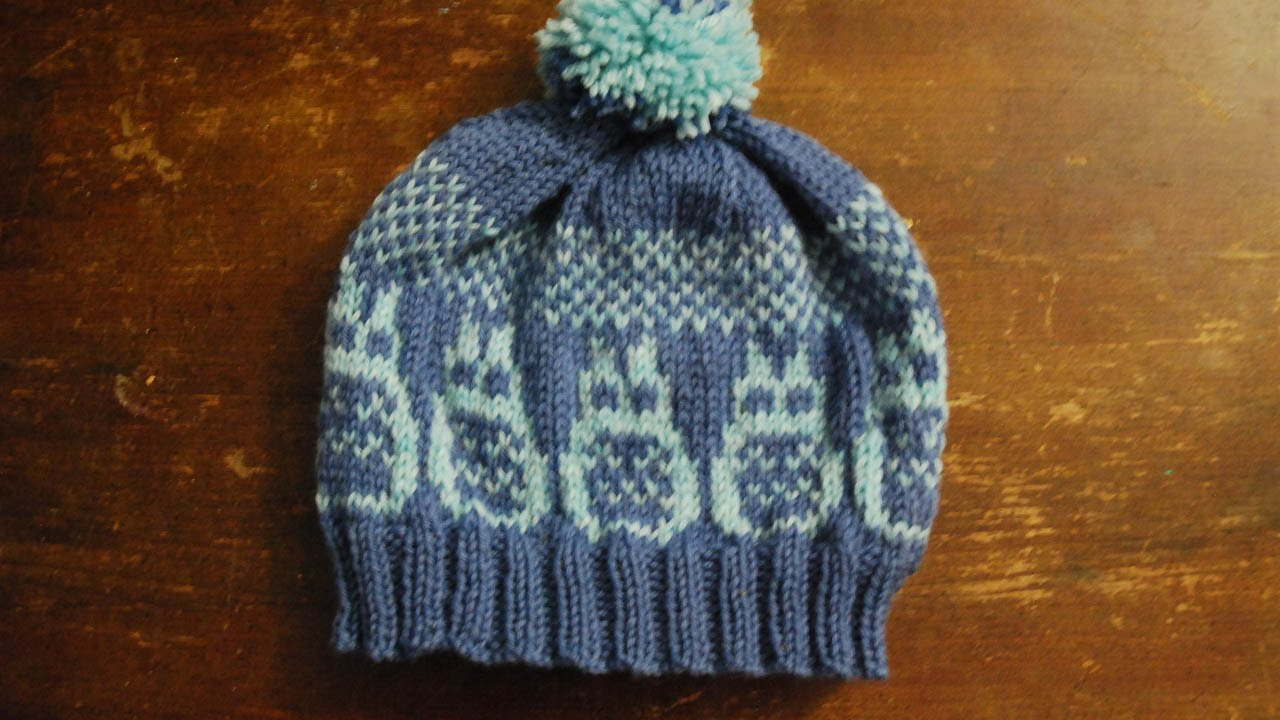 Knitting Pattern For Totoro Hat : Knit Totoro Hat Tutorial - YouTube