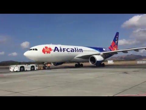 Pushback Nouméa la Tontouta Aircalin A330-200