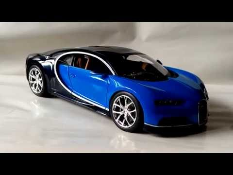 1:18 bburago bugatti chiron diecast model review - youtube