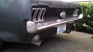 67 Mustang with Flowmaster 40 exhaust