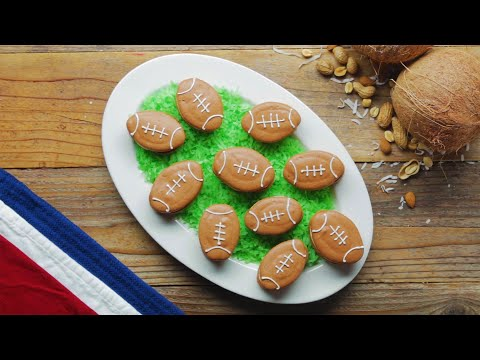 Football Macarons • Tasty