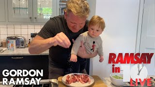 Gordon Ramsay Shows How To Make A Lamb Chop Dish At Home | Ramsay in 10