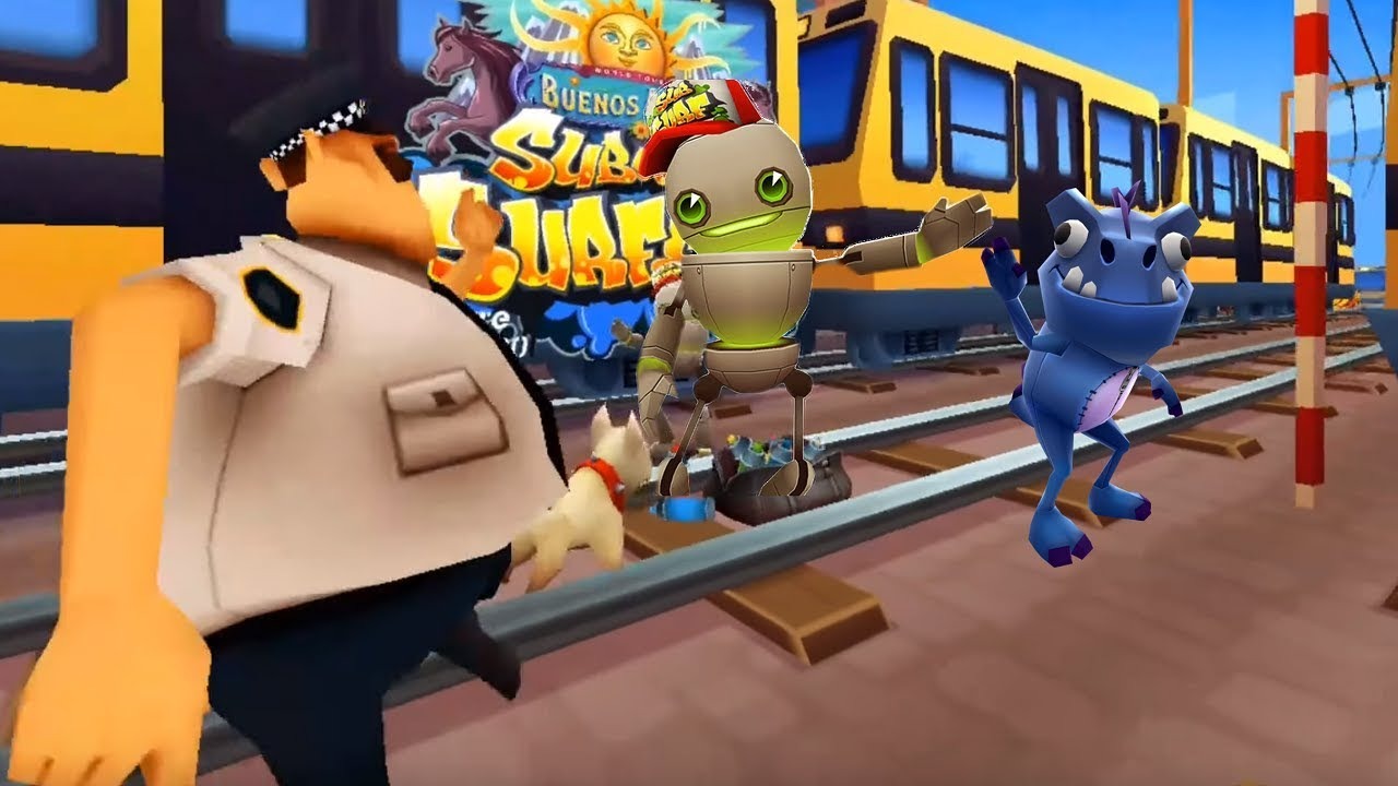 Subway Surfers Buenos Aires 2018 - Tagbot vs Dino gameplay ...