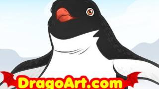 How to Draw Ramon, Ramon, Happy Feet 2, Step by Step