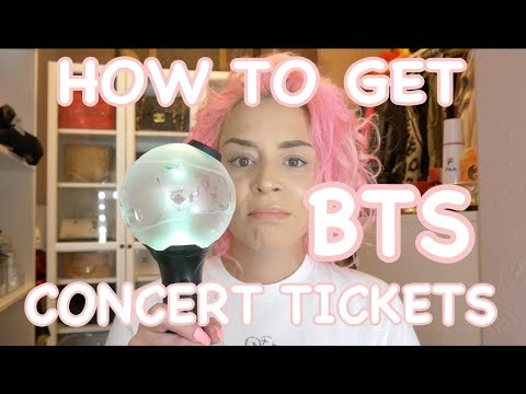 HOW TO GET BTS CONCERT TICKETS!!!