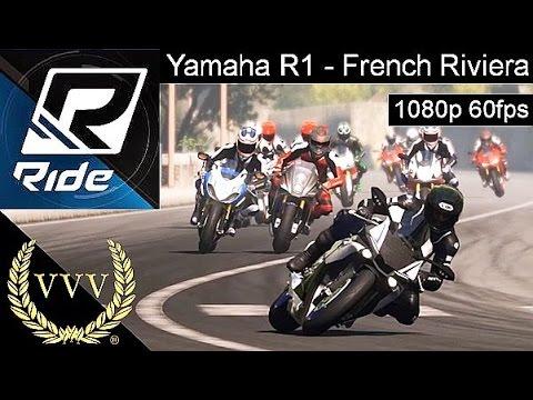 Ride - Yamaha R1 - French Riviera -60fps PC Gameplay