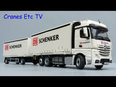 NZG Mercedes Benz FH25 BigSpace Truck + Trailer 'DB Schenker' by Cranes Etc TV