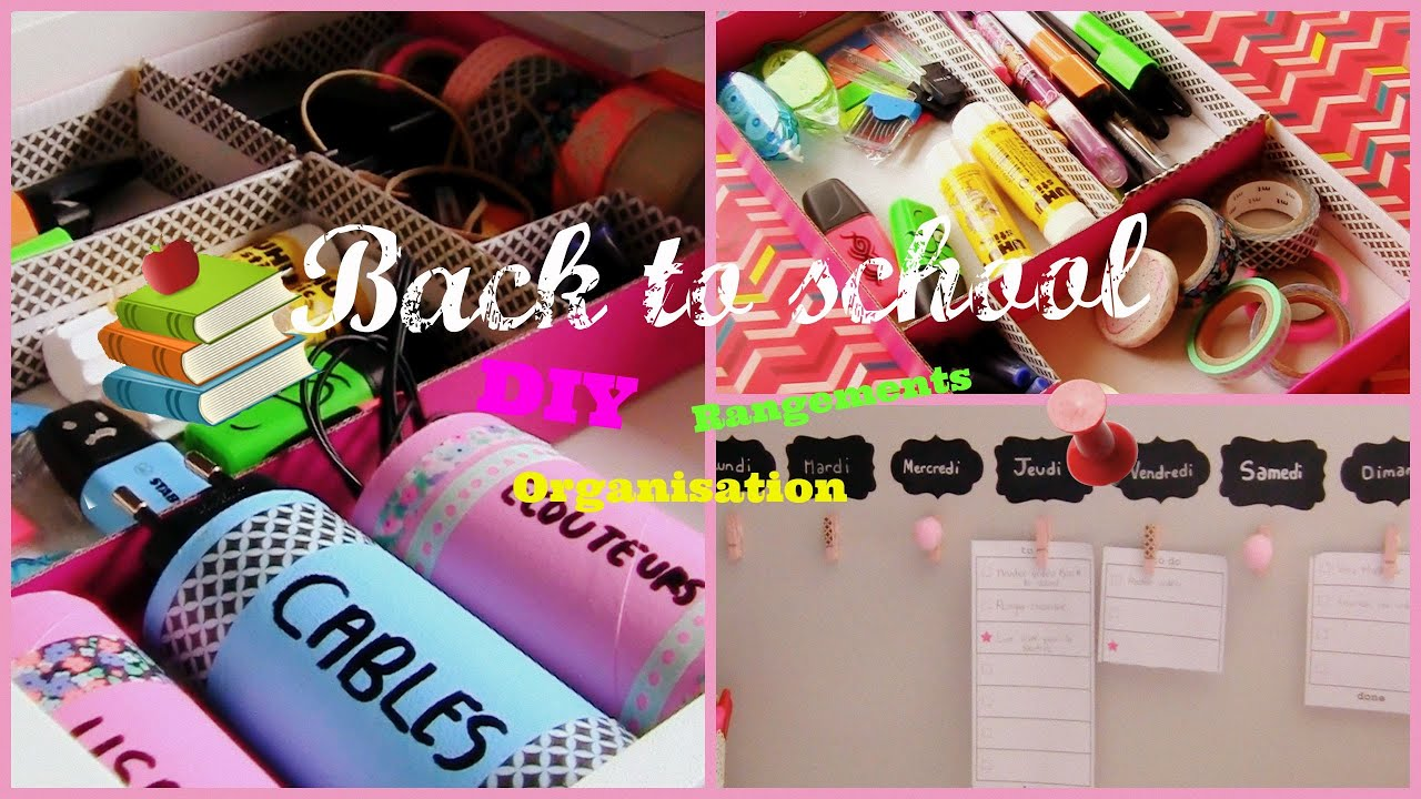 Back to school DIY organisation & rangement - YouTube