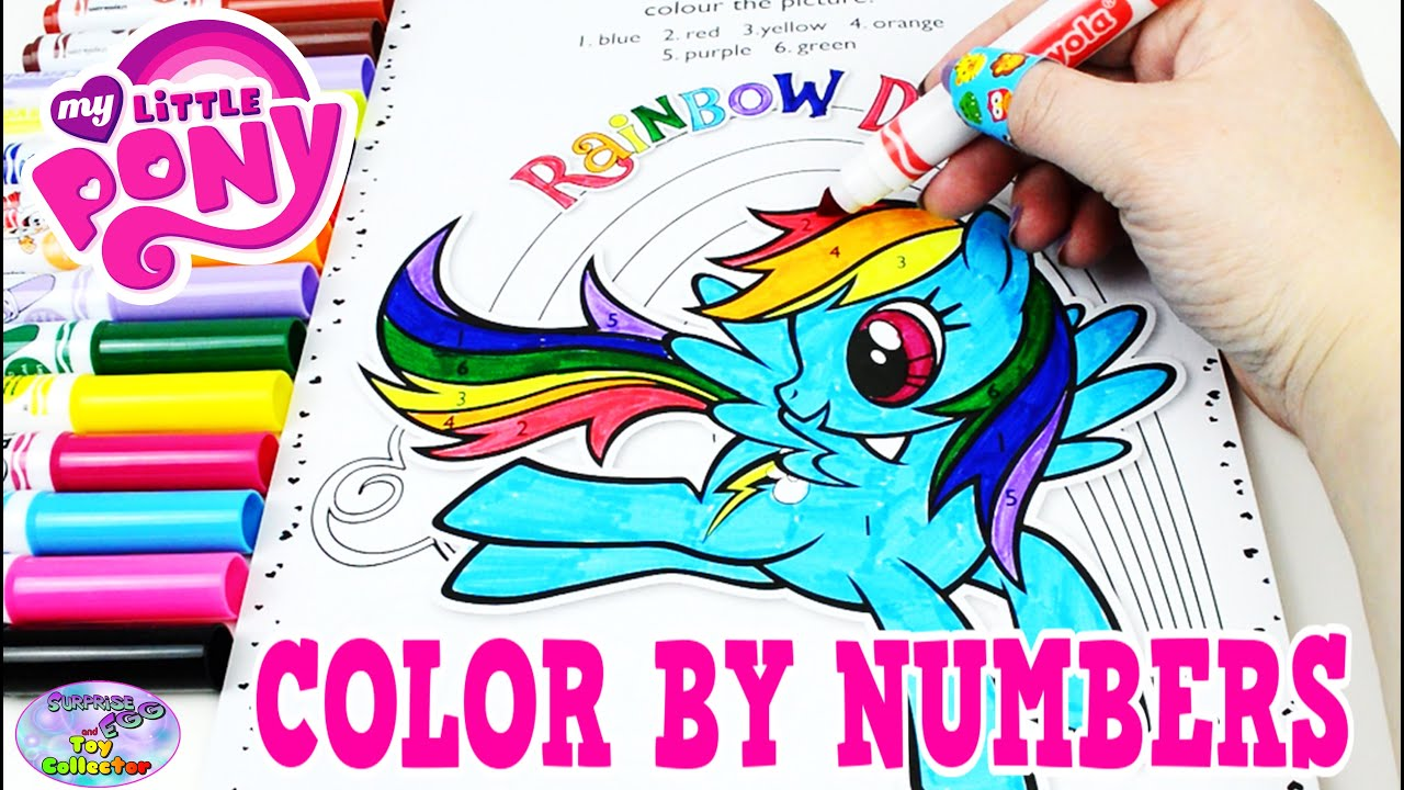 My Little Pony Color By Numbers Coloring Book MLP Colors Episode ...