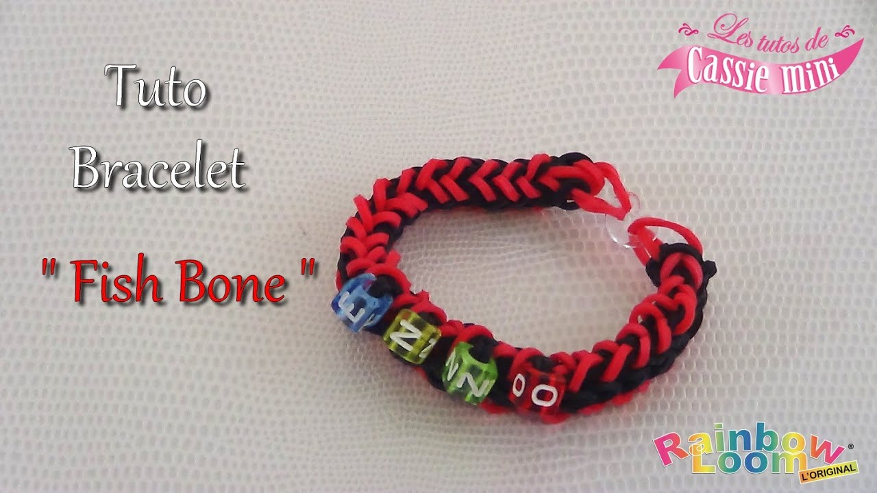 tuto bracelet fish bone en lastique rainbow loom d sign rainbow loom youtube. Black Bedroom Furniture Sets. Home Design Ideas