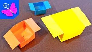 Оригами ЛЕГКАЯ КОРОБОЧКА из бумаги