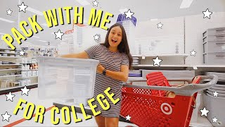 PACK WITH ME FOR COLLEGE