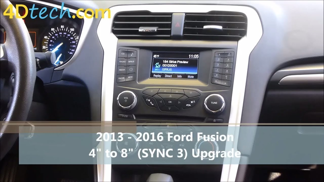 4 To 8 Upgrade W Sync 3 2017 2016 Ford Fusion
