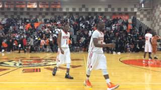 Muskegon Heights seniors leave the floor for final time.