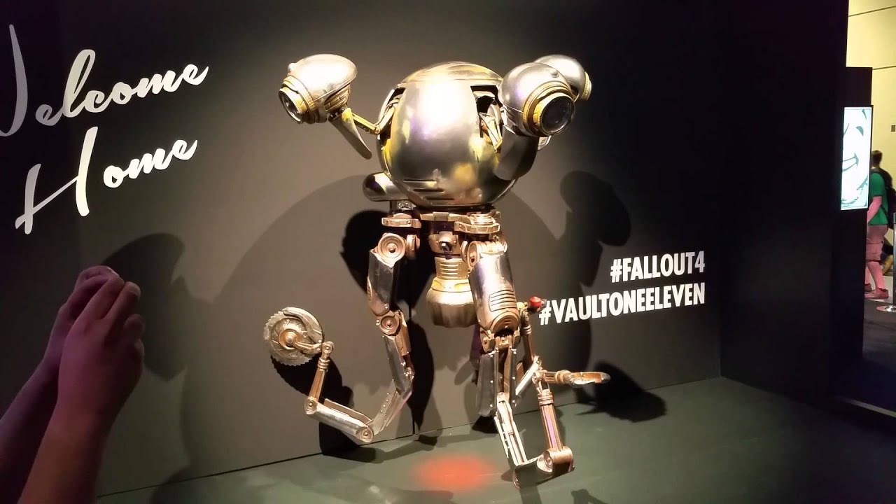 pax prime 2015 fallout 4 booth mr handy youtube. Black Bedroom Furniture Sets. Home Design Ideas