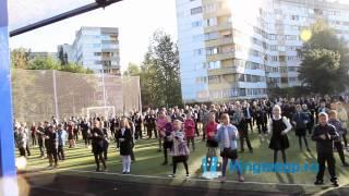 Фото Гигантский ФЛЕШМОБ на стадионе школы № 5 Кингисеппа. Заряд позитива и здоровья. KINGISEPP.RU