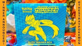 GIVEAWAY WINNER ANNOUNCED | Lost Thunder Elite Trainer Box Opening!