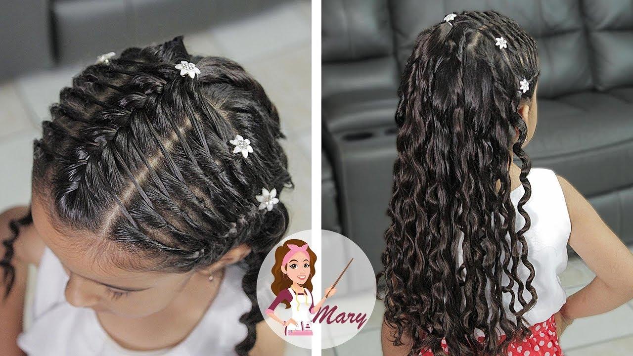 Peinados primera comunion cabello suelto