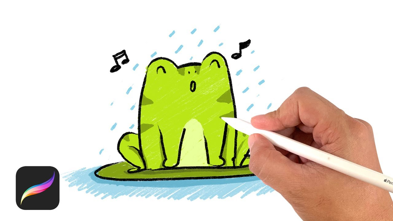 How to drawing cartoon Frog - Procreate with iPad Pro 11 ...