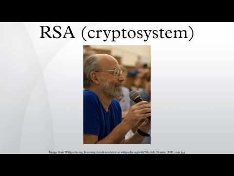 RSA (cryptosystem)