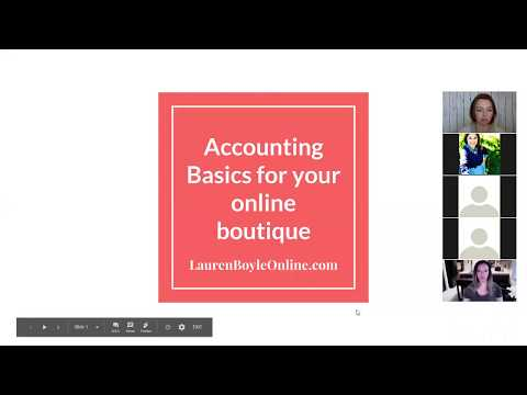 Basic Accounting for your Online Boutique