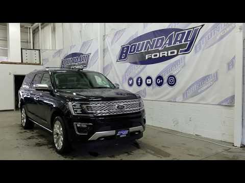 2018 Ford Expedition Max Platinum W/ Leather, DVD, Third Row Overview | Boundary Ford