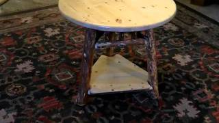 Rustic Log End Table By Frontier Log Furniture